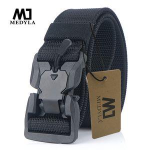 Medyla equipamento militar de combate tático por Homens Us Army Training Nylon Magnetic Buckle cintura exterior Caça Belt