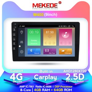 4 + 64G 4G LTE 9853 9/10 بوصة الروبوت 10.0 سيارة الإذاعة الوسائط المتعددة Playe العالمي السيارات ستيريو بلوتوث تحديد المواقع والملاحة سيارة دي في دي مشغل فيديو