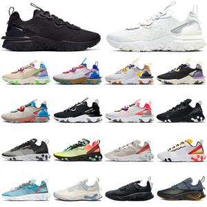 react vision Epic element 55 87 erkekler için koşu ayakkabıları üçlü beyaz siyah Yerçekimi Mor Pastel Tonları tasarımcı spor ayakkabı 36-45