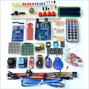 Wholesale- NEWEST RFID Starter Kit for Arduino UNO R3 Upgraded version Learning Suite With Retail Box Starter Kit for Arduino