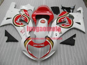 Injection Fairings kit for white red SUZUKI GSXR 600 GSXR750 2001 2002 2003 GSXR600 GSXR 750 K1 K2 bodywork GSXR750 600 01-02-03 body kits