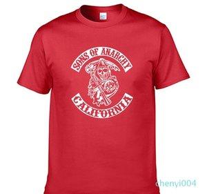 SOA Sons de la mode enfant SAMCRO T-shirt imprimé Hommes femmes mode Hip Hop coton à manches courtes Casual Mens T-shirt C04