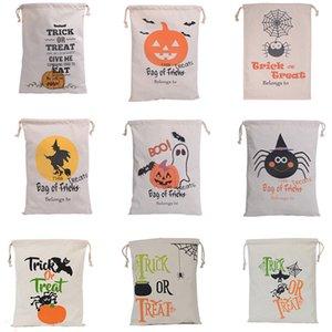 Halloween Weihnachtsgeschenke Taschen Kürbis Einkaufstaschen Festival Geschenke Tasche Halloween Leinentaschen-Speicher-Beutel 36 * 44CM WX-B10