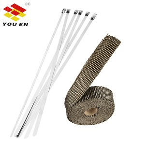 Youen 5 / 10M de coches Moto escudo térmico Wrap Turbo Exhaust Heat Pipe Wrap Cinta Escudos colector de cabecera de aislamiento de tela rollo