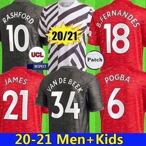 20 21 SANCHO FERNANDES جيرسي لكرة القدم 2021 مانشستر يونايتد لكرة القدم قميص RASHFORD Camiseta دي فوتبول JAMES مانشستر يونايتد WAN BISSAKA GREENWOOD