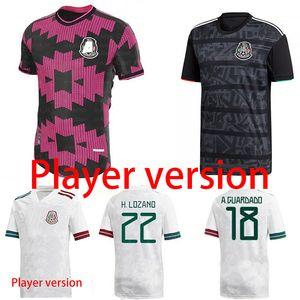 20 21 Player sürümü Meksika H LOZANO DOS SANTOS Chicharito Futbol gömlek 2020 2021 spor forma