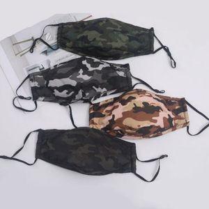 Камуфляж пыле взрослых Хлопок Маски Спорт на открытом воздухе дышащие многоразовые Camo Защитная маска для лица персонализированные моды 4 Стили BWE853