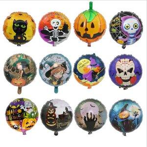 2017 Brinquedos infláveis Decoração Halloween Decor 18 polegadas de alumínio balão Film Pumpkins Diabo Santo balões de hélio Partido Home