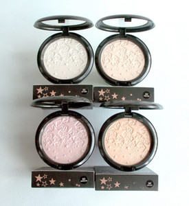 Makeup Face Highlighter Opalescent Powder Contour Luminous Compact Powder Brighten Shimmer Long-lasting Five-Pointed Star Pressed Powder