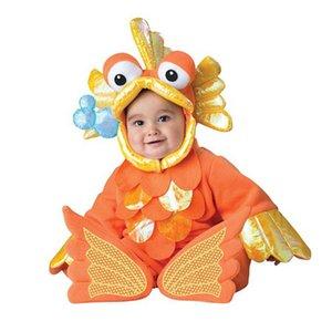 Nouveau animal Halloween Outfit pour bébé grandir pour bébé Garçons Filles Bébé Costume de cosplay costume perroquet / gris éléphant / Poisson rouge / gris Lapin