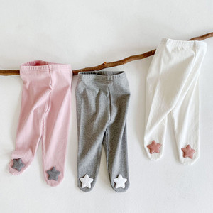 Plain Color Baby Leggings with Feet Autumn Online Shop Sales Baby Girl Cotton Leggings Full Length 3 Color Cute Toddler Tights Pant 20090402