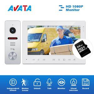 Hareket Algılama kilidini Konuşma IR Gece Görüş İzleme Daire Güvenlik Sistemi Video Doorbell Visual interkom Kablolu