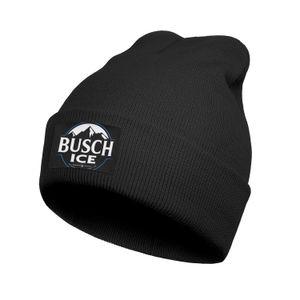 Fashion Busch Light Beer blau adge weiß Feinstrick-Uhr-Strickmütze Häkelarbeithüte schwarz Tarnung Armee Seite Distressed zurück Rand Pike 3D