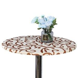 60 cm Parti ronde Aménagée élastique simple de protection Imprimé Intérieur Extérieur Cuisine Salle à manger Chambre Lavable Tablecloth Home Decor