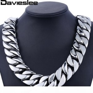 31mm 316L Stainless Steel Mens Boys Super Heavy Silver Tone Chain Curb Necklace Customized Wholesale Gift Jewelry LHN35 C18122501