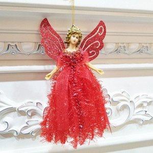 Bonito do Natal do anjo Decoração Com corda pendurada árvore de Natal Portátil decoração decorações de Natal barato barato online Christma 9GLZ #