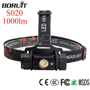 BORUIT LED Headlamp Sensor Headlight 18650 USB 1000lm Head Ligth Camping Fishing Flash Llight S020