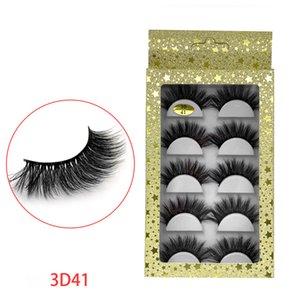 5 Pairs Multilayer 3D False Eyelashes Natural Long Black Eyelashes Full Volume Thick Professional Beauty Makeup Tools