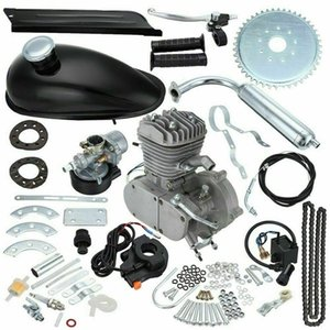 80cc 2-Takt-Kit Motorrad Benzin für Elektro-Fahrrad-Gebirgs Komplettset Bike Gas Engine Motor
