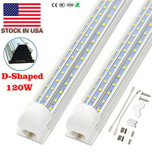 4FT LED T8 Tubes Light Integrate Tube 2FT 5FT 6FT 8FT LED Lights V-Shaped White 6000K 120W Double Row LED Tube Light