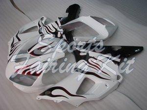Kits complets Corps pour YZF1000 R1 1998 à 1999 Flamme Rouge Blanc Carénage YZF1000 R1 1998 Carénage YZF1000 R1 1998
