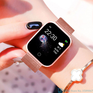 Stainless Steel Smart Watch Women Men Smartwatch For Android IOS Electronics Smart Clock Fitness Tracker Bluetooth Smart-watch