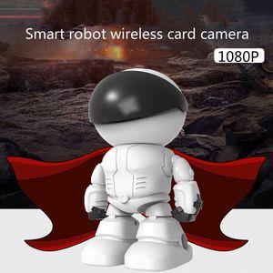 New surveillance camera human body automatic tracking smart robot wireless WiFi home remote network monitor 1080P white
