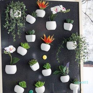 Simüle Buket Çiçek Buzdolabı Sticker Sulu Bitki dolabı Magnet Mıknatıslı Saksı Bitki Ana Sayfa Duvar Süsleme OOA5858