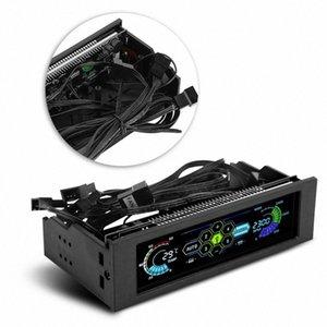 STW PC CPU Ordinateur Écran LCD de refroidissement du panneau avant Régulateur de température contrôle la vitesse du ventilateur pour CPU de bureau de refroidissement d'entraînement 9btT #