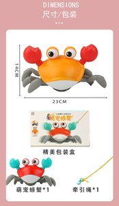 Children's toys gift simulation Leash crabs amphibious Crawling paddle crabs Baby shower toy both boy and girl