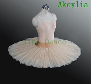 Beige Ballet Rehearsal tutu bambini nero balletto Mezza Tutu Bianco professionale Prova Ballet Platter Praticare Pancake Tutus Per Ragazze