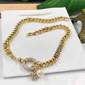 ciondolo stella Internet Celebrity stesso stile braccialetto di fascia alta di lusso delle donne collana D casa / di casa perla a cinque punte