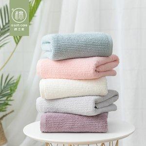 الهراء لون الصلبة بارث منشفة امتصاص قوي البشكير القطن رئيس التفاف سريعة جاف FaceTowel المنزلية اليد مجموعة منشفة الحمام