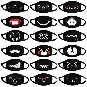 Güzel Karikatür Pamuk Moda Baskı İfade Maskesi Sevimli Ayı Yıkanabilir materyali olarak yeniden Ağız Kapak OWF783 Maske Sıcak Cotton tutun Maske