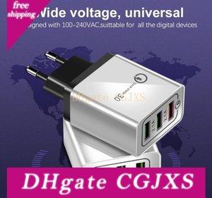 Usb carregador de parede Carregador Rápido Qc 3 .0 rápida Fast Charge carregamento 3 portas USB 3 .1a carregamento rápido para Smartphone Samsung