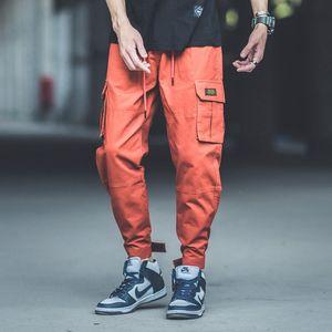 2020 Fashion Street Herren Jeans Multi Taschen Cargo Pants Japanese Style Loose Fit Jogger Pants Punk Style Hip Hop Jeans Men