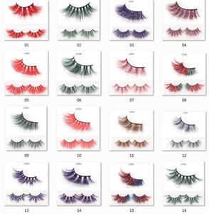 17styles 25mm color 5D Mink pestañas falsas espesas pestañas de lujo de color natural de Cosplay imitado Mink Pestañas Delgado