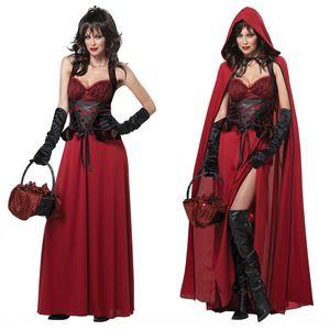 cosplayprincess Little Red Hat одежды принцессы одежда Красная Шапочка замок Королева Хэллоуин костюм игра костюм