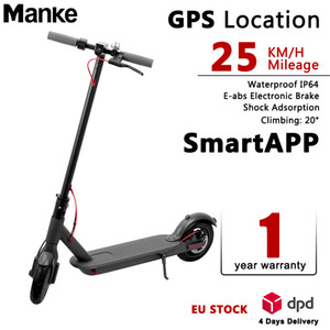 Europe Special Offer Electric Scooter 350w 36v 8.5inch Max 25km h M365 Waterproof E-bike with Bluetooth APPS Smart Foldable Scooter