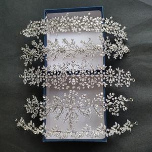 SLBRIDAL Luxe flexible pleine Zircon cubique mariage Tiara Bandeau de mariée de demoiselles d'honneur de la Couronne CZ Accessoires cheveux Bijoux femmes Y200807