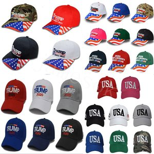 Halten Sie Trump Baseball Cap America Great Again Caps 2020 Kampagne USA-Flagge-Hut Bestickte Party-Hüte 38style GWC1000