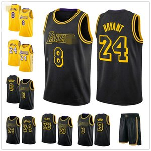 Black City Los AngelesLakersBryant Jersey magiqueJohnson Lebron James 23 Shaquille O'Neal 34 Anthony Davis 3 Basketball Maillots