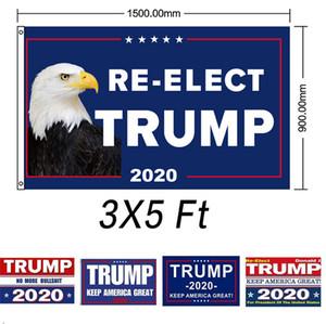 EU Stock Trump Bandeira de suspensão de 90 * 150 centímetros Trump Mantenha América Grande Banners 3x5ft Digital Imprimir Donald Trump 2020 Bandeira Decor bandeira Flags