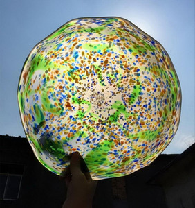 2020 Free Shipping Modern Blown Glass International Wall Plates Home Decorative Murano Glass Hotel Wall Lighting