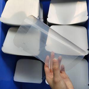 En stock Visage Bouclier Feuilles Film plastique juste feuille Visage Visor réutilisable facial feuilles couverture LJJK2470