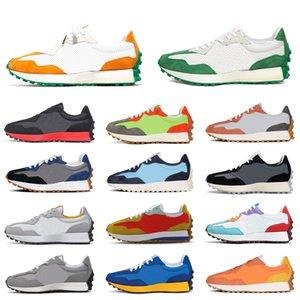 New Balance Running Shoes Homens Mulheres 327 Chaussette Preto Laranja Azul Cinzento Malha Branco Verde Neo Orgulho Chama Casual Formadores Ao ar livre Esportes Sneakers