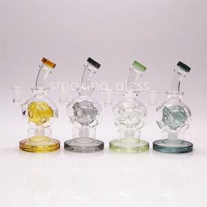 nargile Cam Bong Renk Yumurta çekirdekli Nargile percolator Bongs Borular Benzersiz Glass 7in 1 net kase giftr için 1 Qeuartz tetiğe almaya vermek dahil