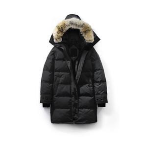 Invierno Mujeres Canadá Shelburne Parka caliente grueso de piel desmontable con capucha de Down Escudo chaqueta delgada de las mujeres del envío libre de alta calidad Doudoune