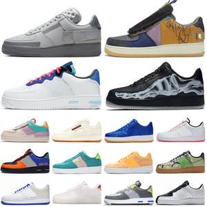 Travis Scott x Nike Air Force 1 Low N354 Schatten React Laufschuhe Triple-Kaktus Chaussures Be True Skeleton Split Damen Herren Sneaker Sport Sneakers Plattform 36-45