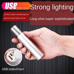Multifunktionale Schatz Mini-LED Q5 Charging Schatz Taschenlampe Hochleistungs-USB-Ladealuminiumlegierung Taschenlampe